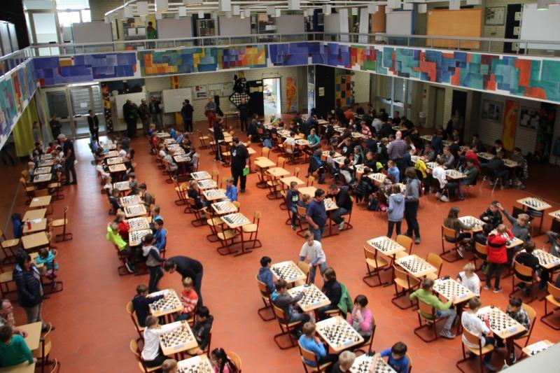 Bamberger Jugendopen 2018 Turniersaal von oben